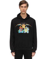 Criminal Damage Starter Cotton Jersey Sweatshirt Hoodie - Black