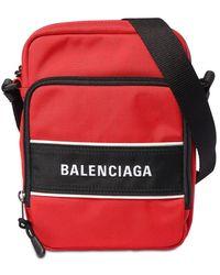 Balenciaga Umhängetasche Aus Nylon Mit Logo - Rot