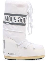Moon Boot Classic ウォータープルーフナイロンスノーブーツ - ホワイト