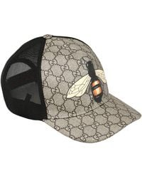 Gucci - Bee Coated Gg Canvas & Mesh Trucker Hat - Lyst
