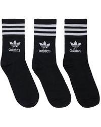 adidas Originals ロゴソックス - ブラック