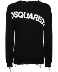 DSquared² Свитер Из Трикотажа С Логотипом - Черный