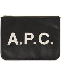 A.P.C. エコレザーポーチ - ブラック