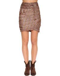 Ba&sh Dina Floral Print Silk Blend Mini Skirt - Mehrfarbig