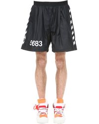 "Hummel - Shorts ""willy Chavarria"" Con Bandas Laterales - Lyst"