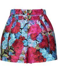 Versace Шорты Из Шелковой Саржи - Красный