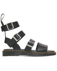 Rick Owens Dr Martens Gryphon Leather Sandals - Black