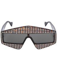 Gucci - Square Sunglasses W/ Crystals - Lyst