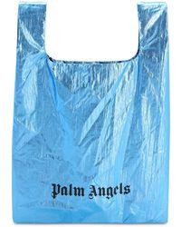 Palm Angels Metallic Nylon Tote Bag - Blue
