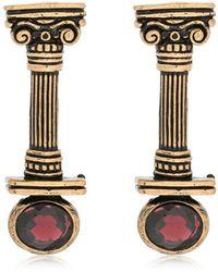 Alcozer & J - Capital Column Earrings With Garnets - Lyst