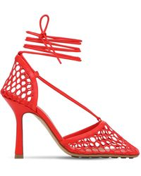 Bottega Veneta Кожаные Туфли С Сеткой 90мм - Красный