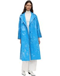 Stand Studio Lexie Nylon Trench Coat - Blue
