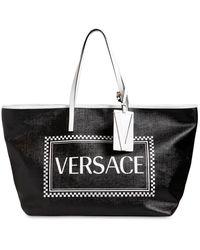 Versace 90s Vintage Logo Tote Bag - Black