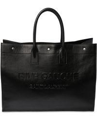 Saint Laurent Rive Gauche レザートートバッグ - ブラック