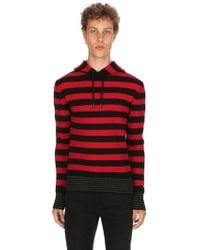Diesel Black Gold - Hooded Striped Wool Blend Sweater - Lyst