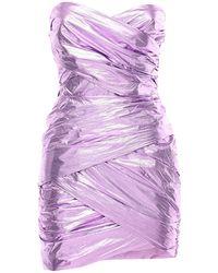 Bec & Bridge Платье Из Нейлона - Розовый