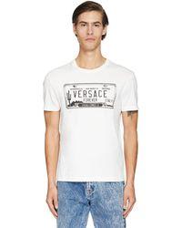 Versace Хлопковая Футболка С Принтом Логотипа - Белый