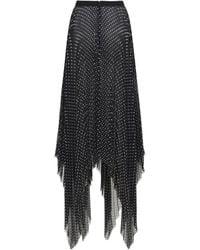 Prabal Gurung Polka Dots Asymmetric Georgette Skirt - Black