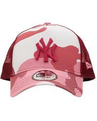 KTZ Бейсболка Ny Yankees Camo Trucker - Розовый