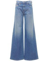 """DIESEL Ausgestellte Jeans Aus Baumwolldenim """"akemi"""" - Blau"""