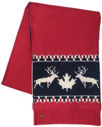 DSquared² - Deer Wool & Alpaca Knit Scarf - Lyst