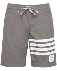 Thom Browne Classic Board Tech Swim Shorts - Gray