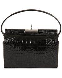 GU_DE Milky Croc Embossed Leather Bag - Black