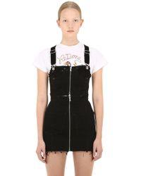 RE/DONE - Zipped Denim Overalls Mini Dress - Lyst