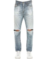 """DIESEL 18cm Jeans Aus Baumwolldenim """"d-vider"""" - Blau"""