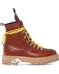 Off-White c/o Virgil Abloh - 40mm Hiking Leather Boots - Lyst
