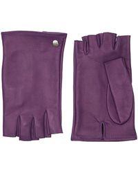 Mario Portolano Fingerlose Handschuhe Aus Nappaleder - Lila