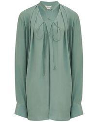 Victoria Beckham シルククレープデシンシャツ - マルチカラー