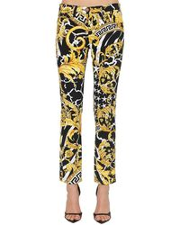 Versace Savage Baroque High-rise Pants - Multicolour
