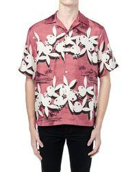 Amiri Camicia Playboy Aloha In Twill Di Seta Stampata - Rosso
