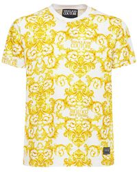 Versace Jeans Couture コットンtシャツ - イエロー
