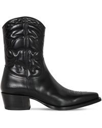 DSquared² 50mm Quilted Leather Cowboy Boots - Black