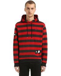 McQ - Swallow Detail Striped Cotton Sweatshirt - Lyst