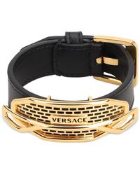 Versace Fender Leather Bracelet - Black