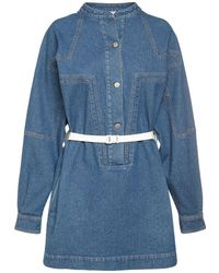 Stella McCartney Vintage Wash コットンデニムミニドレス - ブルー