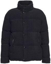 Saint Laurent Куртка На Пуху Из Шерсти И Хлопка - Черный