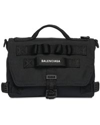 Balenciaga Army ナイロンメッセンジャーバッグ - ブラック