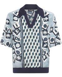 Dolce & Gabbana Рубашка-поло Parco Dei Principi Из Шелка - Синий