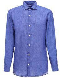 Frescobol Carioca Льняная Рубашка - Синий