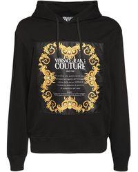 Versace Jeans Couture Свитшот С Капюшоном С Принтом Логотипа - Черный