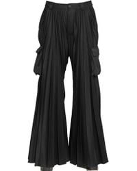Hood By Air - Pleated Flared Cargo Trousers - Lyst