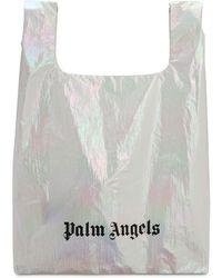 Palm Angels メタリックナイロントートバッグ - ホワイト