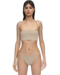 AEXAE Halter Neck Lycra Bandeau Bikini Top - Многоцветный