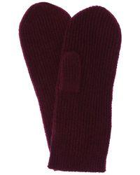 Isabel Marant Chiraz Cashmere Mittens - Red