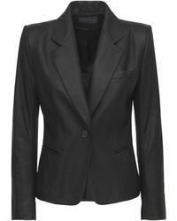 """Ann Demeulemeester Giacca """"angelina"""" In Pelle - Nero"""