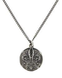 Emanuele Bicocchi Lily Coin Pendant Chain Necklace - Metallic
